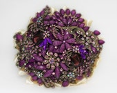 purple brooch bouquet gold wedding brooch bouquet purple wedding bouquet wedding purple bridal bouquet jeweled bouquet purple broach bouquet