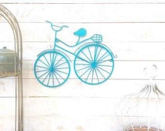 Iron Bike w/ Hooks, Coat Hanger, Key Holder, Home Decor, For The Home, Customize