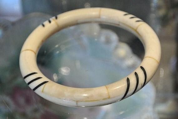 Ox Bone Bangle Oxbone Mosaics Tribal Ethnic Bone Bangle Inlay Design Bracelet Boho Bohemian Gypsy Oxen Bone African Tribal Bangle