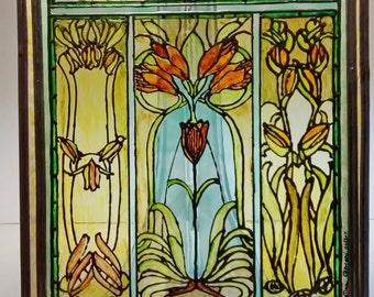 Tiffany Style Panel