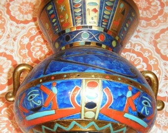 Egyptian Eye of Horus Vase