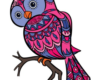 owl coloring page for adults owl adult coloring page bird adult coloring pages - Owl Coloring Pages For Adults
