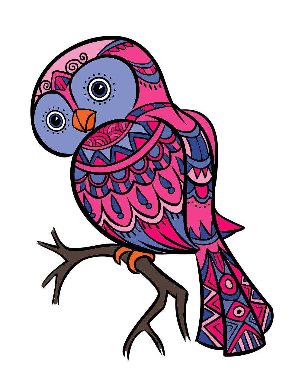 owl coloring page for adults owl coloring page bird
