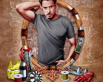 Tony Stark, 11x14 Print