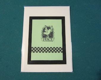 beautiful handmade greeting card/peace
