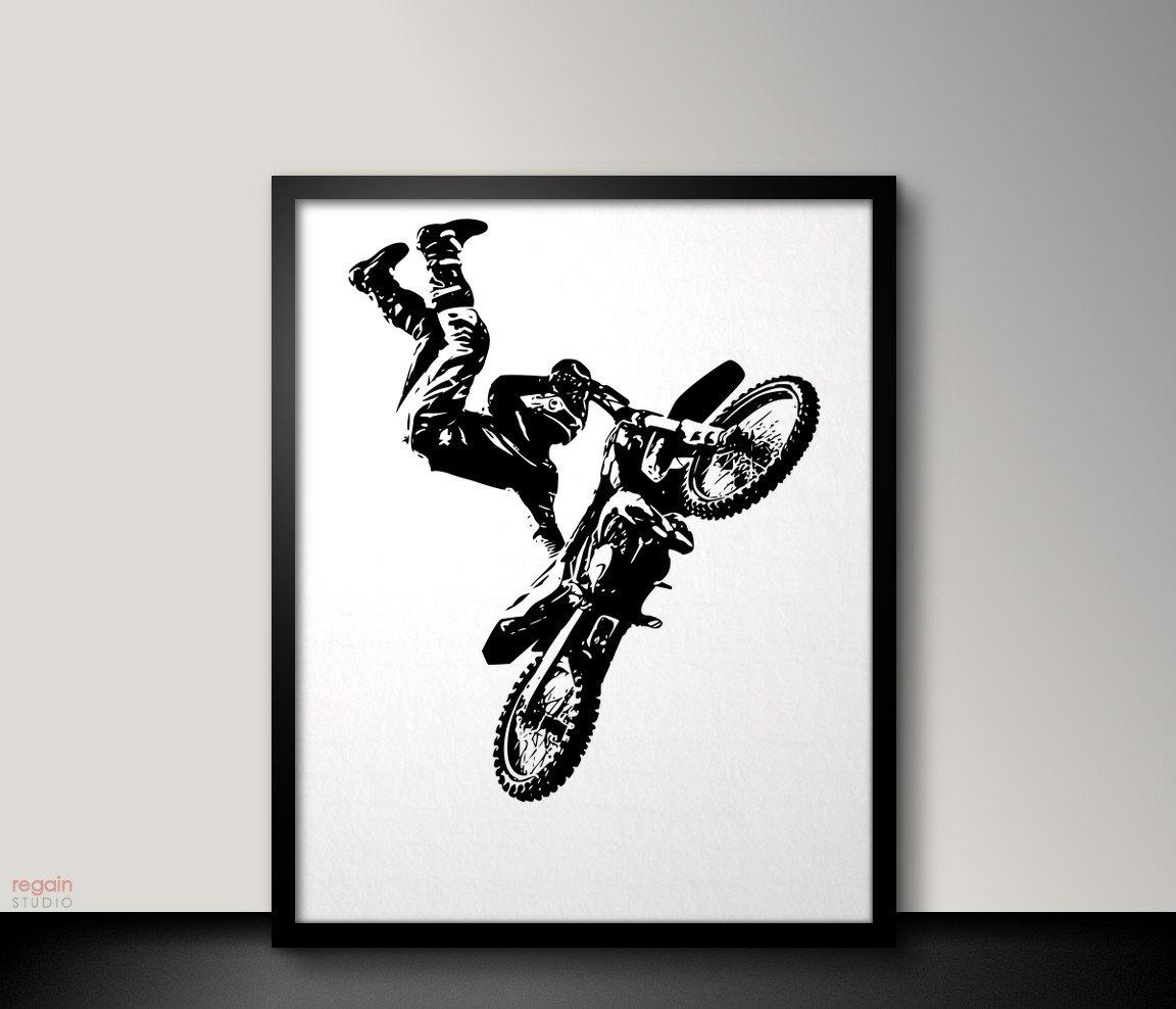 Motocross Bedroom Decor Motocross Decor Etsy