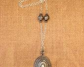 Silver Tribal Aztec Pendant Necklace