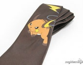 Hand-Painted Raichu Pokemon Necktie