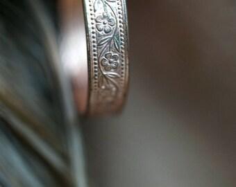 Vintage Copper Earrings Womens Hoop Earrings Etched Copper Drop Dangle Earrings Vintage Jewelry Boho Bohemian