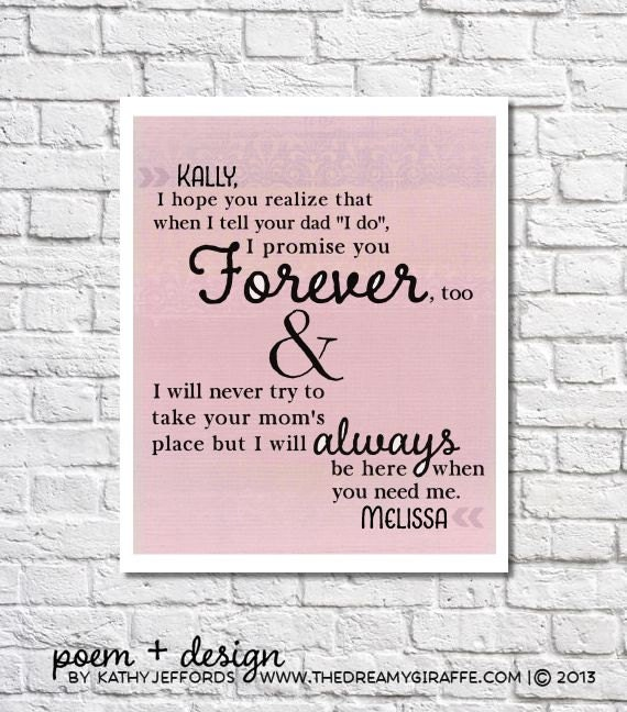 letter to my step daughter personalized letter for stepdaughter stepdaughter wedding 13504