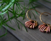 Apiyo Earrings - small affordable everyday minimal african tribal brass copper simple dainty round