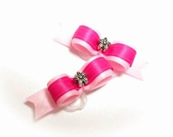 Dog Bows - Pink Dog Hair Bow