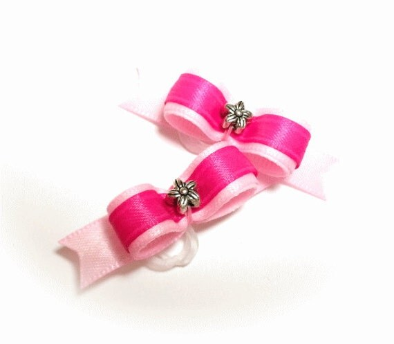 Dog Bows - Pink Dog Hair Bow
