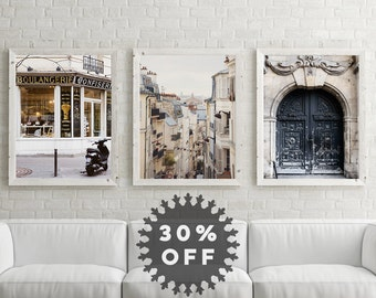"SALE Paris Photography Collection, Unframed Paris Decor, Paris Art, French Wall Decor, Fine Art Photography ""Paris Trilogy"""