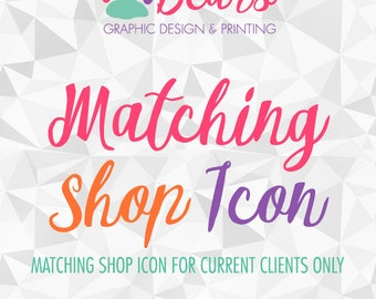 NEW! Matching Shop Icon Add-On for Current Design Clients, Made to Match