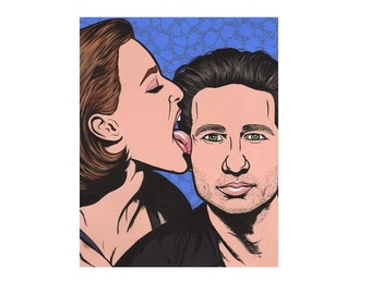 Scully and Mulder Print