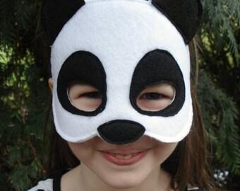 Panda Mask - Animal Mask - Panda Costume - Kid Size - Zoo Animal