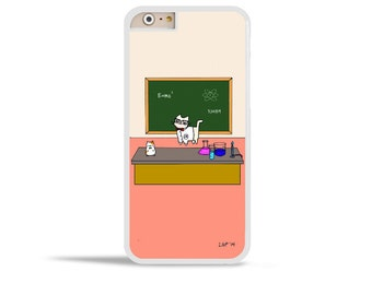 Cute Geeky Galaxy Note 5 Case Science Cat iPhone 6s Samsung Galaxy S6 Case