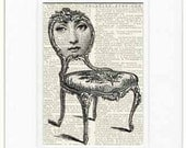 seated no.2 original Cavalieri print