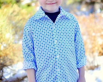 Sis Boom Ethan Boys's Button-Up shirt PDF Sewing Pattern - with Scientific Seamstress