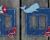 NAUTICAL Kids Switch Plate Covers - Original Hand Painted - Rocker Style