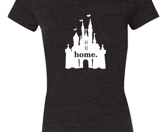 Disney castle home shirt Triblend bella shirt