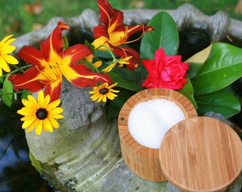 Bath salts or Shower Scrub: Healing Garden.  Create your own signature scent with scented oils, Cardamom essential oil & pure dead sea salts