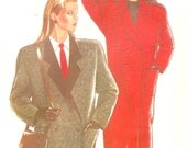 Autumn Fall coats Winter car jacket or long style New Look 6647 sewing pattern Size 8 to 18 Uncut