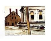 Custom House, Portland Oregon - Edward Hopper - Fine Art Print - 1989 Vintage Book Page Reproduction - 8 x 9.5