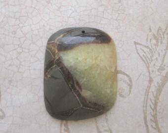Septarian, 45mm pendant, Dragonstone, Septarian Pendant, Fossil Beads, Calcite Bead, Aragonite, Septarian Pendant, Nodule, fossil pendant