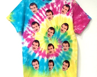 Tie Dye I love Tom Selleck T-Shirt