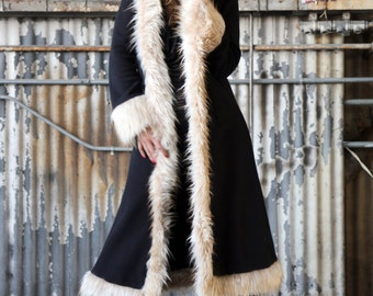 Cream Fox Baroness Jacket with Hood