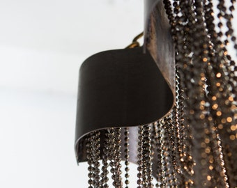 """Legends and Monuments; Iron& Bead Chandelier 36"""""""