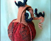 Fabric Pumpkin and Soft Sculpture Worms FFFOFG