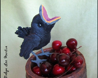 Soft Sculpture Baby Black Crow