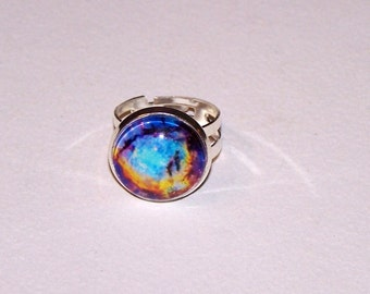 brightly colored nebula ring