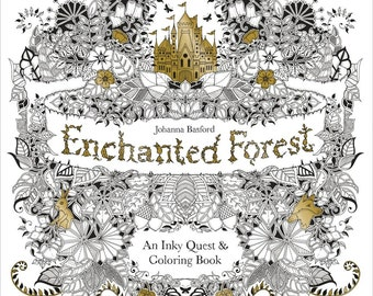Enchanted Forest Coloring Book • Chronicle Books Coloring Book • Enchanted Forest Colouring Book • Adult Coloring Book (CH-67488)