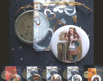 Alice's Adventures in Wonderland Pocket Mirrors - Choose from 6 Designs