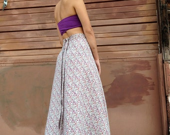 100% Hemp || Soft, Durable Linen || Full Length Wrap Skirt || One Size Fits All
