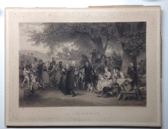 "1873 French Print ""la Cinquantaine"" after H. Anton Dieffenbach"