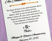 An Anniversary Wish - Infinity Knot Wish Bracelet - Party Favor Custom Made for You