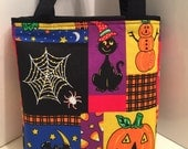 Halloween, Gift Tote Bag, Gift Wrap, Wrapping Paper, Birthday, Trick or Treat, Candy Bag, Ghosts, Boo, Skeleton, Creepy, Kid Friendly, Party