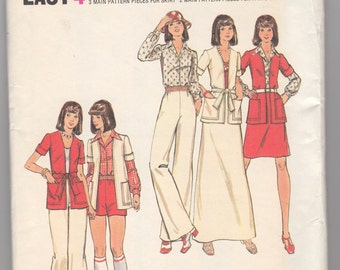 "Vintage Sewing Pattern 1970's Jacket, Blouse, Pants and Skirts Butterick 3141 36"" Bust- Free Pattern Grading E-book Included"