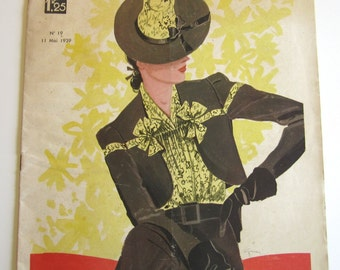 1930's Vintage French Magazine La Mode Pratique May, 1939 WWII Fashion and Sewing