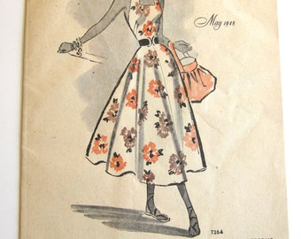 Vintage Pattern Catalog Booklet McCall Style News May 1948 - ORIGINAL