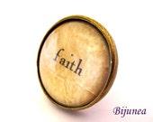 Faith ring - Faith quote ring - Faith brown ring - Faith ring - Faith jewelry - Faith hope ring r834
