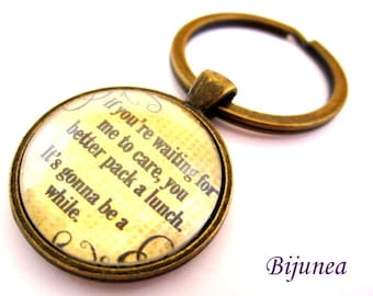 Quotes keychain - Black quotes keychain - Phrases keychain k97