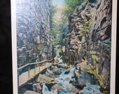 The Flume, Franconia Notch, White Mountains, New Hampshire 1940 Vintage Postcard