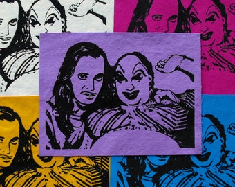 John Waters & Divine Patch Cult Film Patch Pink Flamingos Hairspray Drag Queen Movie LGBT Punk Patch Punk Patches Harris Glenn Milstead