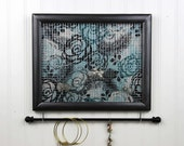 Jewelry Holder- Jewelry Organizer- Upcycled 8x10 Picture Frame
